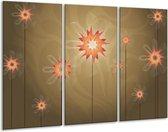 Canvas schilderij Modern   Bruin, Oranje   120x80cm 3Luik