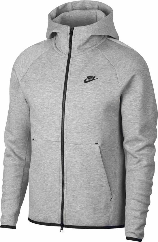 Nike NSW Tech Fleece Hoodie Fz Vest Heren - Dk Grey Heather/Black - Maat XXL
