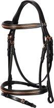 Harry's Horse Hoofdstel Rosegold Classic COB Zwart