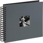 Hama Fine Art spiraal grijs 28x24 50 zwarte pagina's 94879