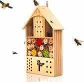 Bambuswald© Insectenhotel 43,5x24x9,2cm | Insectenhuis gemaakt van natuurlijke materialen - Bijenhotel met bescherming