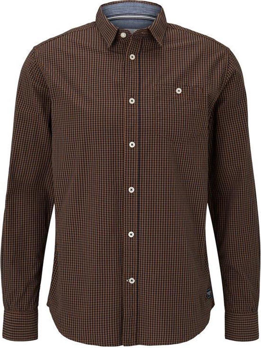 Tom Tailor Lange mouw Overhemd - 1020877 Marine (Maat: M)