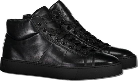 Santoni Sneaker Zwart  - Maat 42 - Heren - Herfst/Winter Collectie - Leer