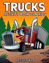Trucks Activity Book For Kids