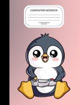 Composition Notebook: Cute Penguin Playing Video Games