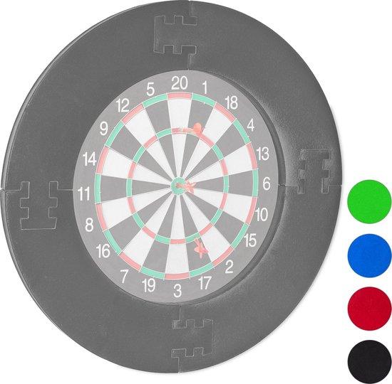 relaxdays dartbord surround ring - beschermring - bescherming voor muur - beschermrand grijs