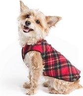 Goldpaw - Stretch Fleece Pullover - Rekbare Hondenjas/Hondentrui - Rood Geruit - Maat 20 (15-30kg)