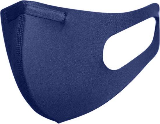 Afbeelding van Blackspade Uniseks wasbaar mondkapje volwassenen - Herbruikbaar, stretch katoen - Medium - Blauw