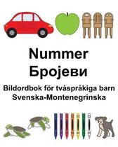 Svenska-Montenegrinska Nummer/Бројеви Bildordbok foer tvasprakiga barn