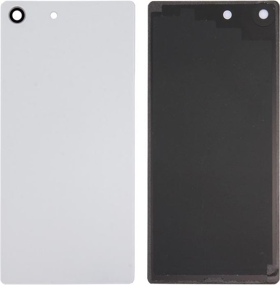 Let op type!! Back Battery Cover for Sony Xperia M5 (White)