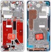 Let op type!! Originele middenframe bezelplaat met zijtoetsen voor Huawei P40 Pro (Zilver)
