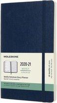 Moleskine 18 Maanden Agenda - 2020/21 - Wekelijks - Large (13x21 cm) - Sapphire Blue - Zachte Kaft