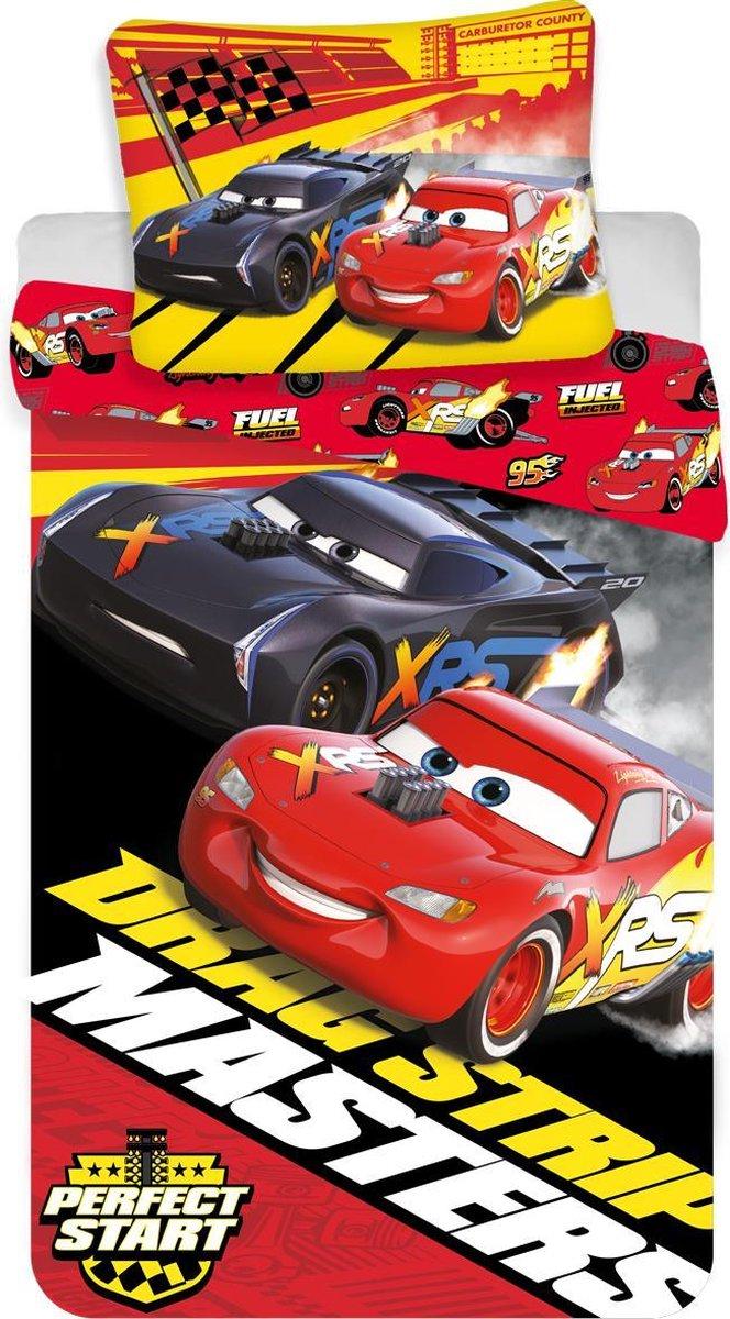Disney Cars Dekbedovertrek Drag Strip Masters - Eenpersoons - 140  x 200 cm - Rood kopen