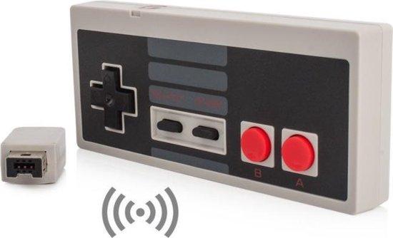 Dolphix Draadloze controller met accu voor Nintendo Classic Mini (Mini NES) / grijs/zwart