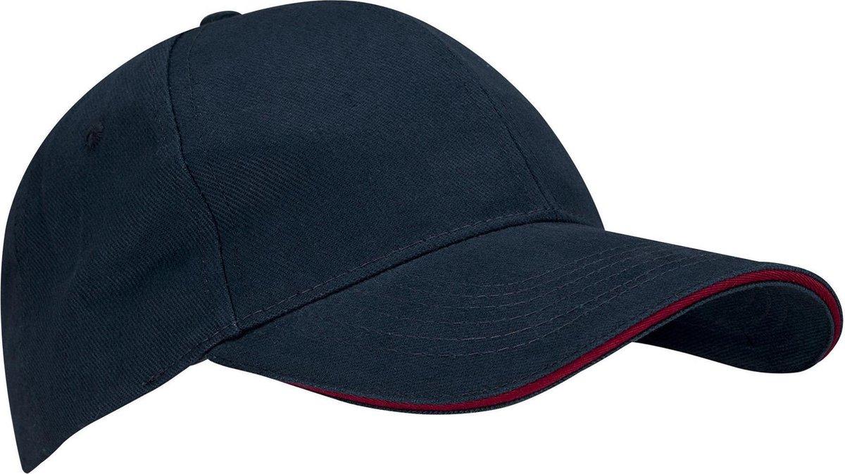 New Port Baseballcap Junior - Sandwich - Marine/Bordeaux - New Port