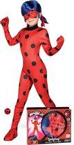 Ladybug Miraculous™ kostuum voor kinderen - Verkleedkleding - Maat 134/146