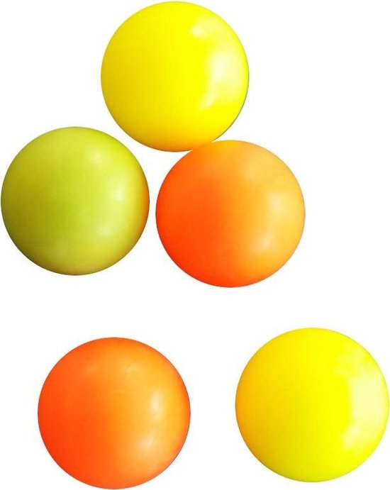 Afbeelding van het spel Fas Tafelvoetbalballen 5 Stuks Geel/oranje/roze