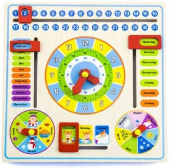Simply for kids Kalender klok