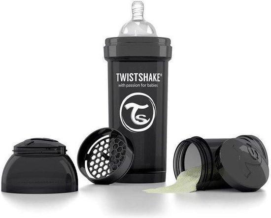 Product: Drinkflesje Antikoliek 260  ml - Zwart | Twistshake, van het merk Twistshake