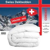 Swiss Dekbed - Eenpersoons Dekbed - 140x200 - Enkel - Hotel kwaliteit
