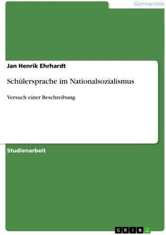 Schülersprache im Nationalsozialismus