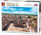 Afbeelding van Puzzel 1000 Stukjes CITY HALL AND MARKET, DELFT, NETHERLANDS speelgoed
