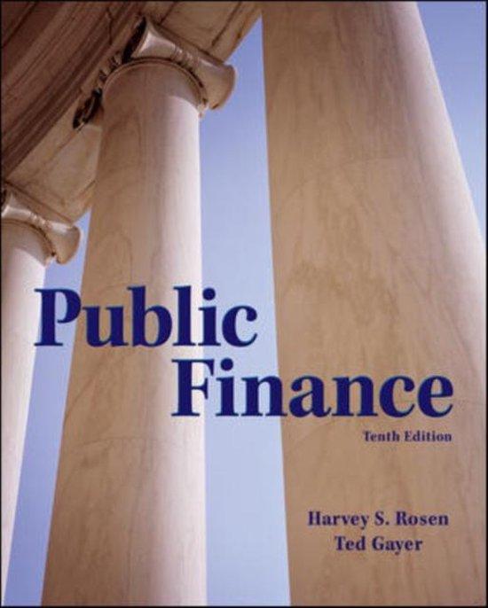 Boek cover Public Finance van Harvey Rosen (Hardcover)