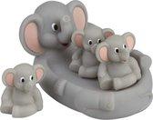 Badspeelset olifanten 4 delig - Badspeelgoed Olifant - Speelgoed voor kinderen en baby's