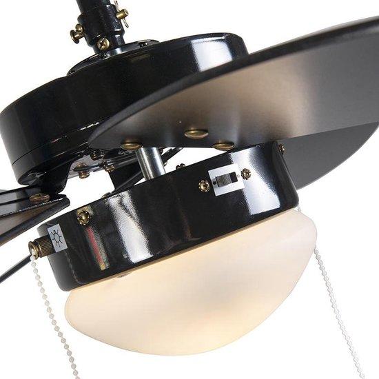 Fresh 30 Plafondventilator met lamp - 1 lichts - 80cm - Zwart