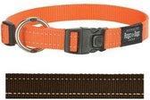 Rogz For Dogs Fanbelt Hondenhalsband - 20 mm x 34-56 cm - Choco