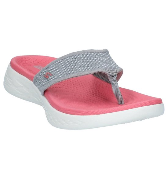 Skechers On The Go 600 15300 slippers dames gray pink (With