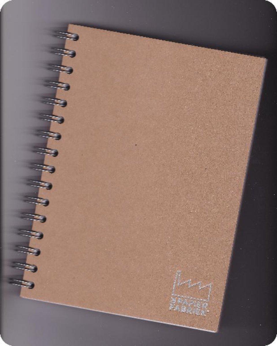 Handlettering/Kalligrafeer/Teken  Bloks 2 stuks  A5, 120 g/m� Blanco Wit Papier Wire-O gebonden, kleur omslag: Kraft Bruin