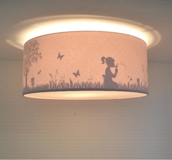 Plafondlamp Babykamer Dandelion Roze - Meisjes Lamp Schaduw Silhouette effect - Plafonnière Kinderkamer Slaapkamer - Land of Kids Kinderlamp