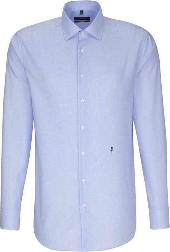 Seidensticker overhemd modern fit blauw, maat 40