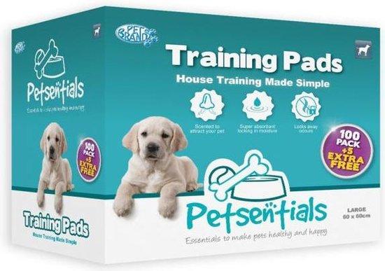 Pet Sentials - Puppytrainingpads - Voor zindelijkheidstraining - 105 stuks - L - 58 x 58 cm