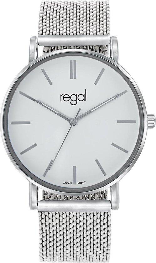 Regal mesh Horloge – Staal – Zilverkleurig – Ø 40 mm