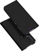 Luxe zwart agenda wallet hoesje Motorola One Vision