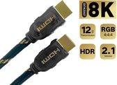 Premium 4K/8K/10K Ultra High Speed 2.1 HDMI kabel 0.5 meter
