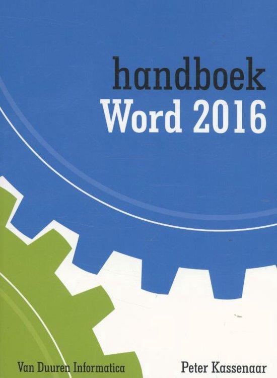 Handboek Word 2016 - Peter Kassenaar |