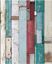 Faux Semblant sloophout blauw/rood behang (vliesbehang, blauw)