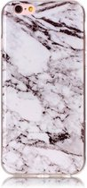 GadgetBay Marmer hoesje cover case iPhone 6 6s silicone - Marble - Wit