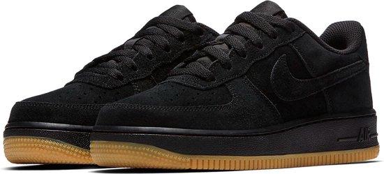 Nike Air Force 1 (GS) Suede Sneakers Junior Sneakers - Maat 36.5 - Unisex -  zwart