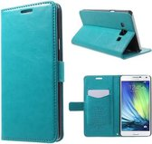 Kds PU Leather Wallet hoesje Samsung Galaxy Ace 4 blauw