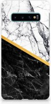 Samsung Galaxy S10 Hardcase Marble White Black