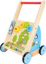 Mamabrum Houten Baby Walker - Loopkarretje Duwkar - Activity Duw Wagen Kar - Loophulp Duwwagen Looprek