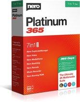Nero Platinum 365 - 1 Gebruiker - 1 Jaar - Meertalig - Windows Download