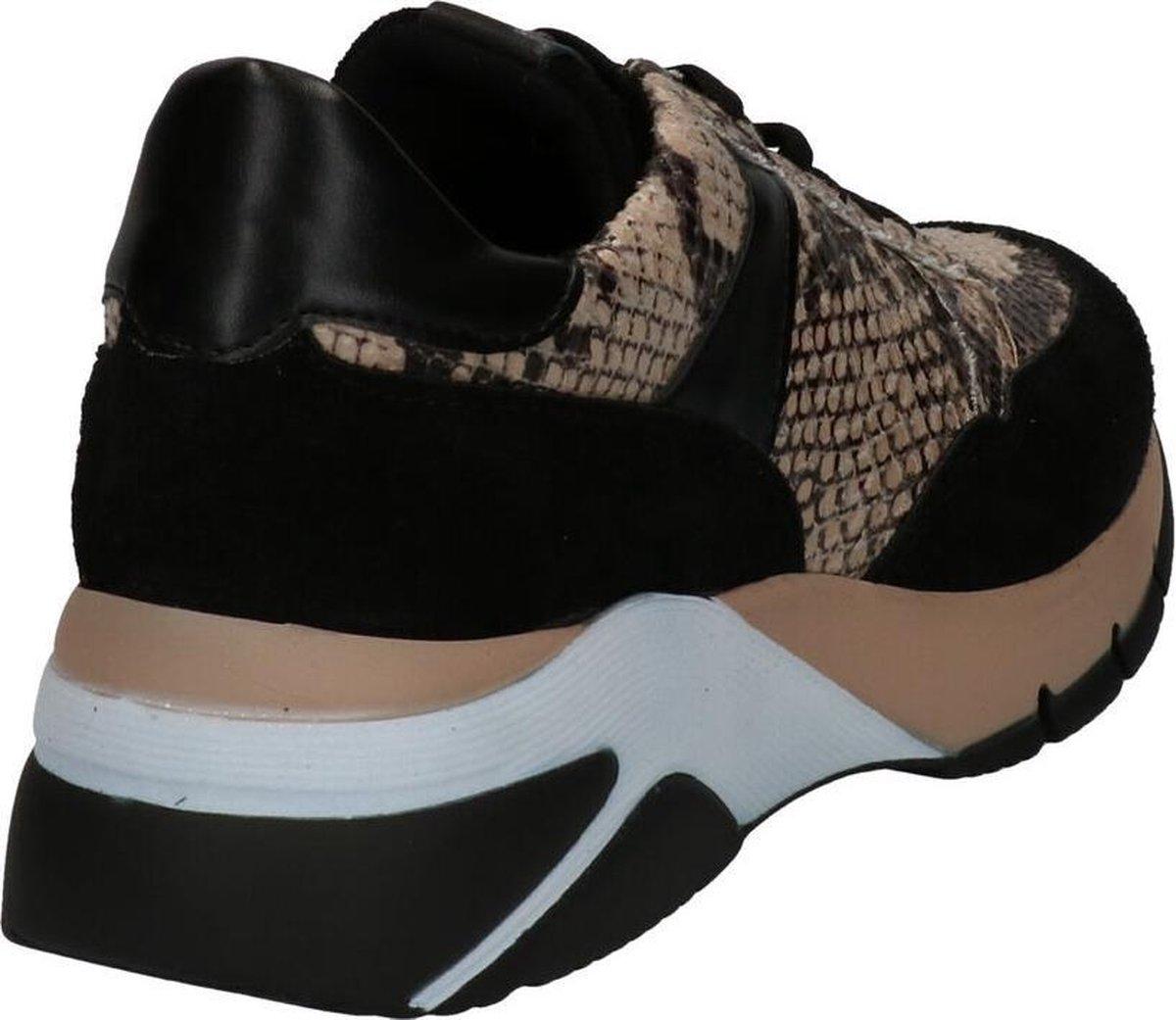 Tamaris Beige/Zwarte Sneakers Dames 40 Sneakers