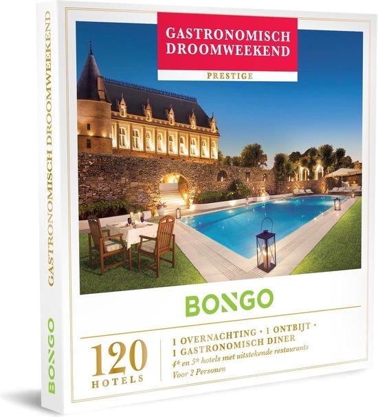 Bongo Bon Nederland - Gastronomisch Droomweekend Cadeaubon - Cadeaukaart cadeau voor koppels   120 luxueuze hotels