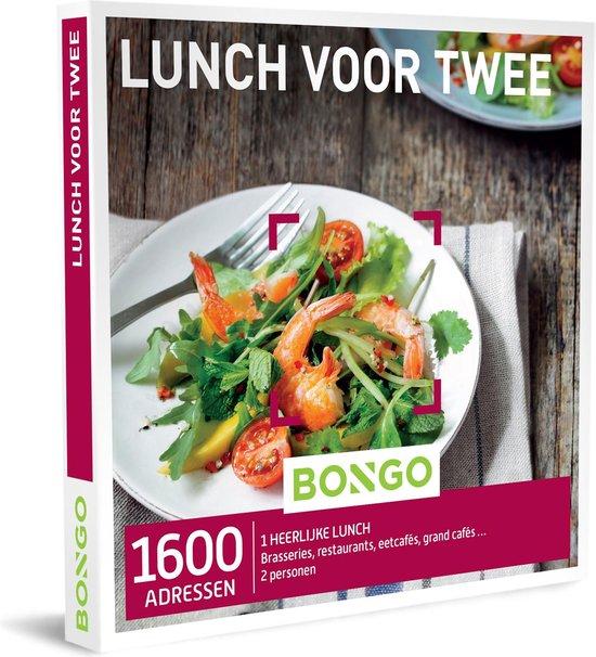 Bongo Bon - Lunch voor Twee Cadeaubon - Cadeaukaart cadeau voor man of vrouw | 1600 lunchadressen: brasseries, restaurants, eetcafés, grand cafés en meer