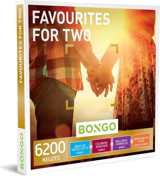 Bongo Bon - Favourites for Two Cadeaubon - Cadeaukaart cadeau voor man of vrouw | 6200 keuzes: overnachting, diner, sportieve uitjes, wellness en meer